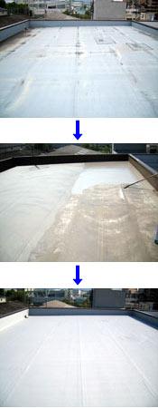 ポリマーセメント系塗膜防水の施工事例
